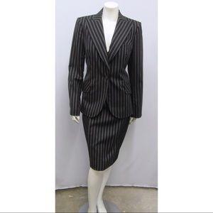 Christian Dior Pinstripe Jacket & Dress Set SZ 10